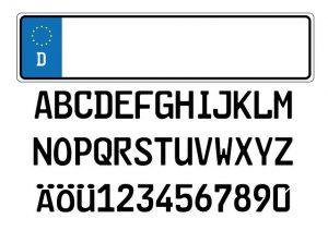 Zulassungsstelle - Autokennzeichen mit Wunschtext